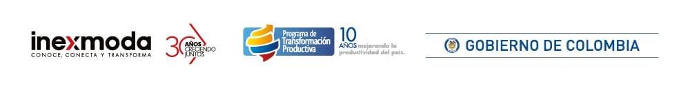 logos de inexmoda 30 años gobierno de colombia