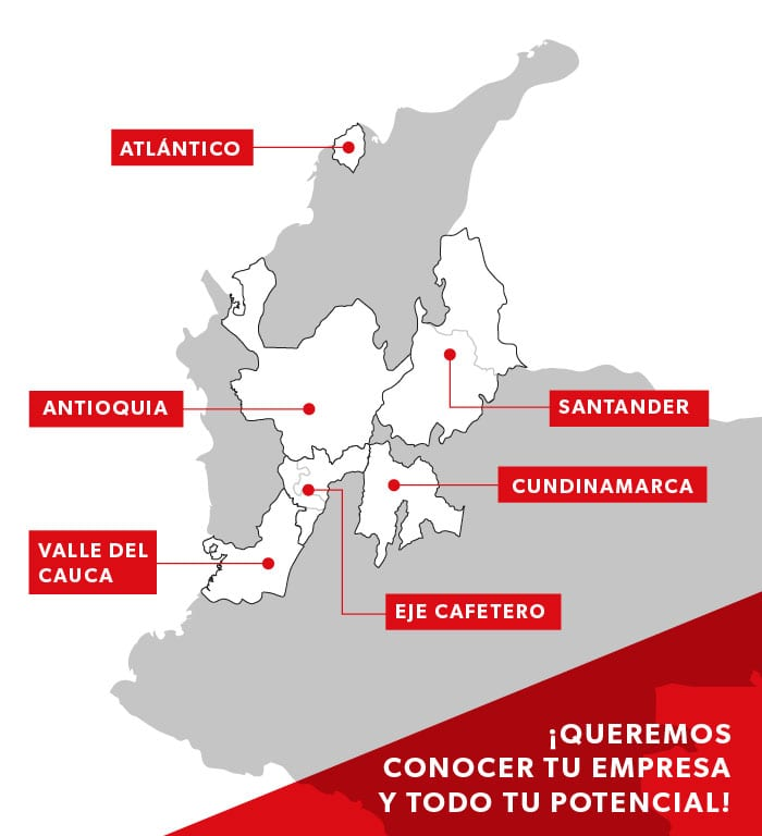 mapa de colombia empresas