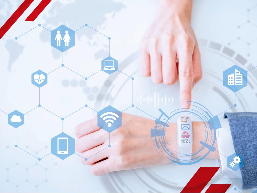 El internet de las cosas manilla que mide la salud