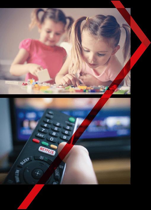 niños control de televisor
